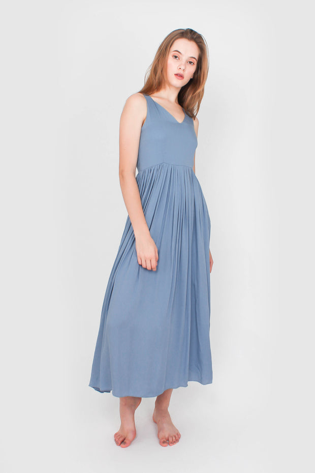 Odyssey Maxi Dress (Dusty Blue)