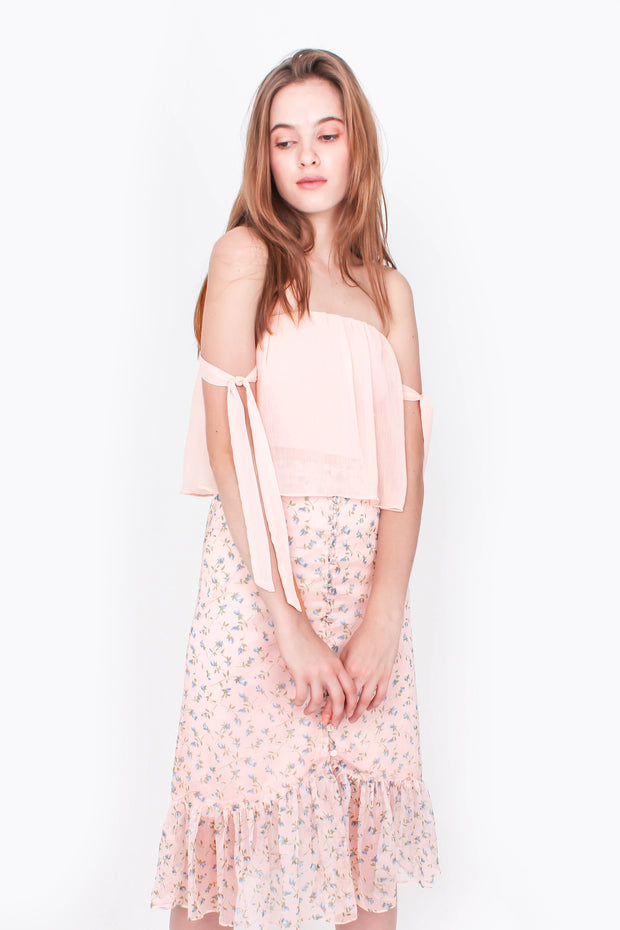 Venture Crop Top (Daisy Pink)