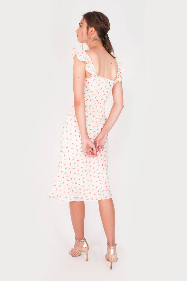 Sanguine Midi Dress (White)