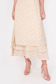 Credence Maxi Dress (Beige)