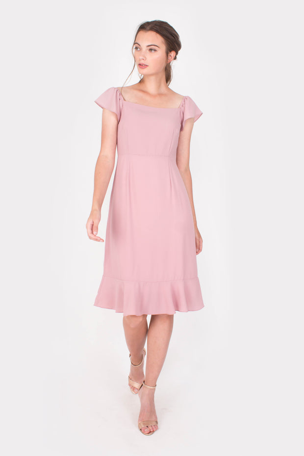 Vigour Midi Dress (Pink)