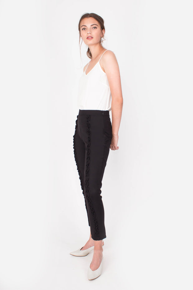 Dream Ruffle Pants (Black)