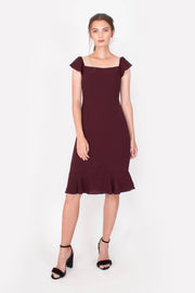 Vigour Midi Dress (Maroon)
