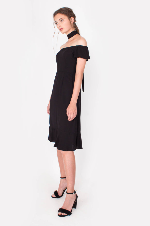Lucent Midi Dress (Black)