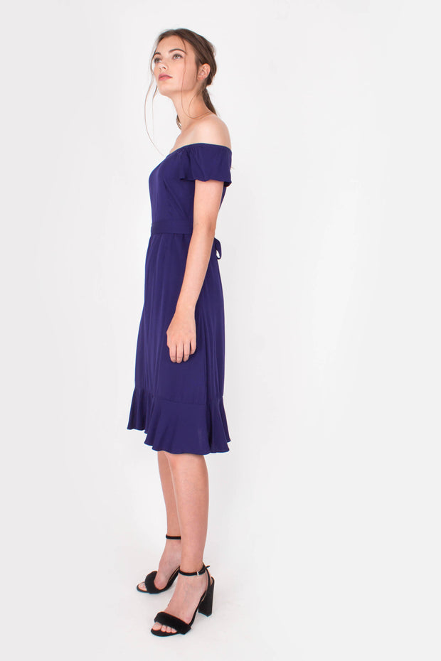 Lucent Midi Dress (Midnight Blue)