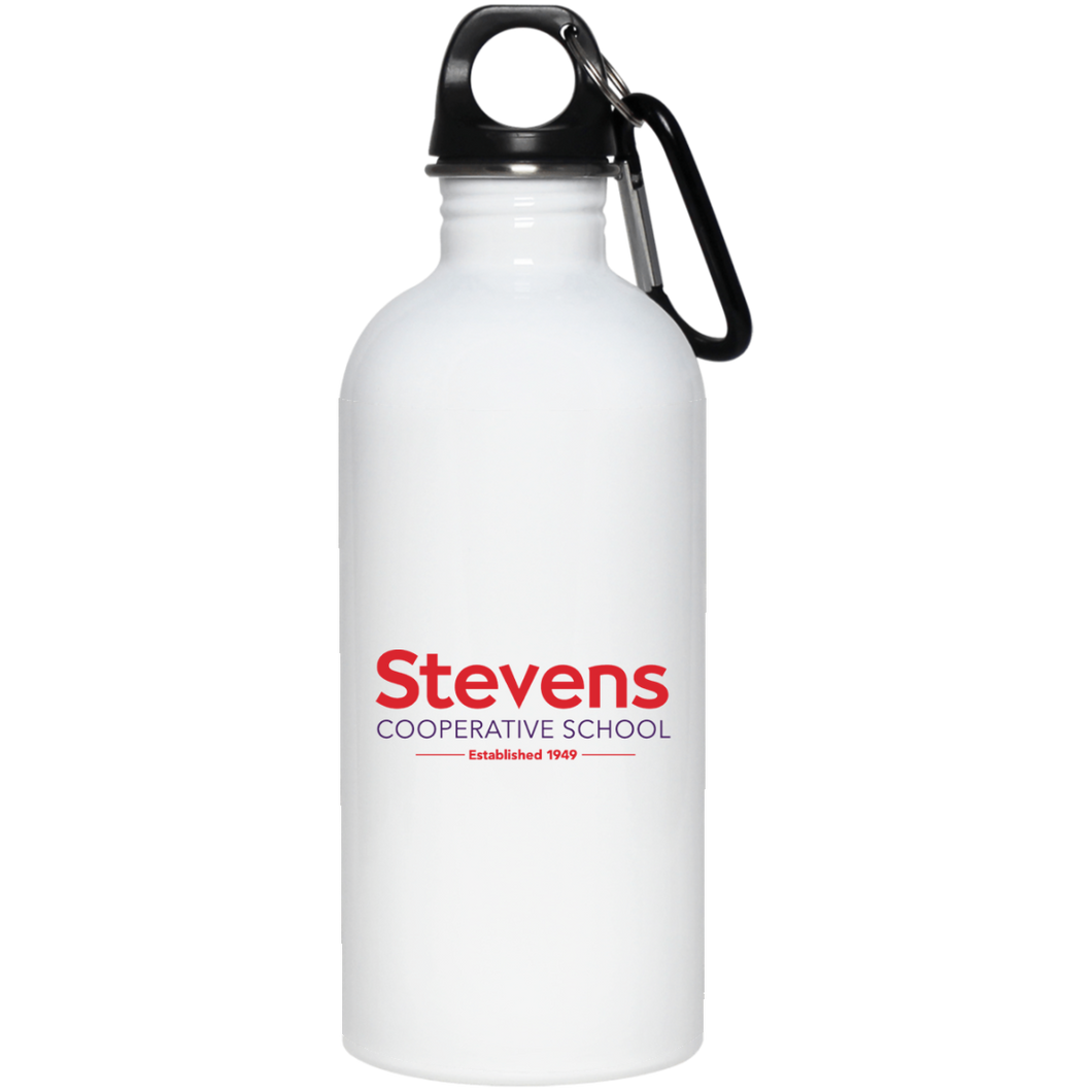 20 oz. Stainless Steel Water Bottle in white