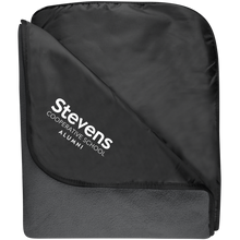 Load image into Gallery viewer, Stevens Alumni Fleece & Poly Travel Blanket