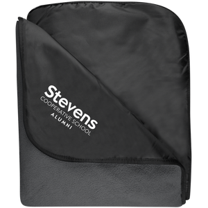Stevens Alumni Fleece & Poly Travel Blanket