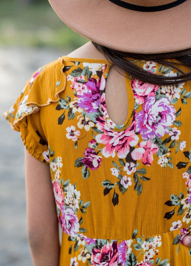 Abigail Dress in Mustard Floral