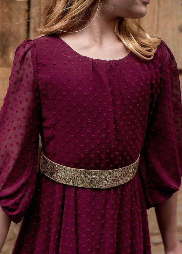 *NEW* Abrielle Dress in Bordeaux
