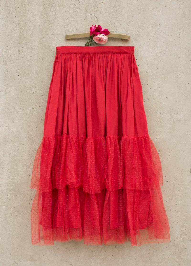 Ada Skirt in Vintage Red