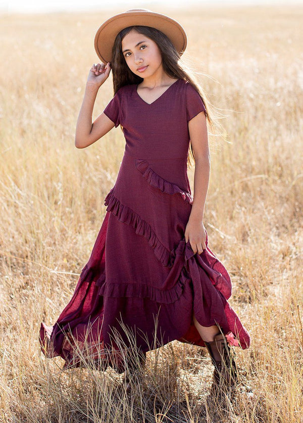 *NEW* Addison Dress in Deep Plum