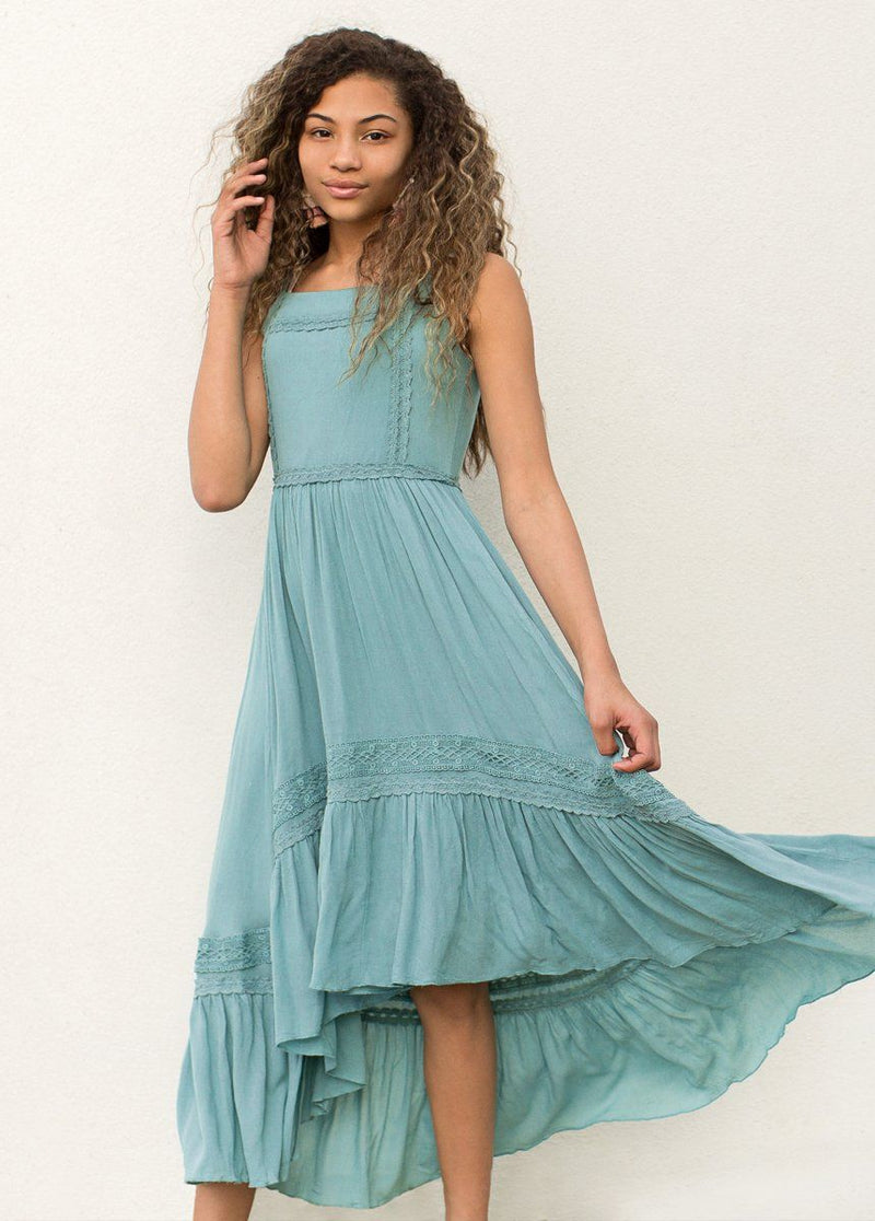 Adelaide Dress in Teal