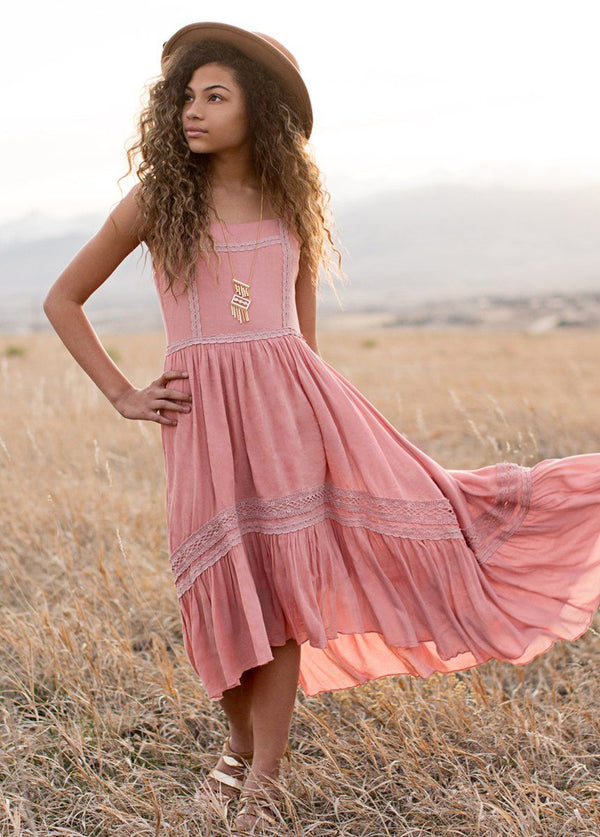 Adelaide Dress in Dusty Pink