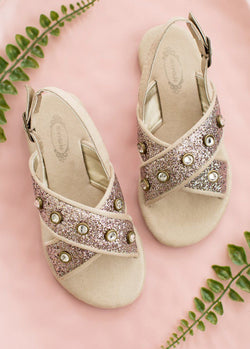 Amara Sandals in Rose Gold