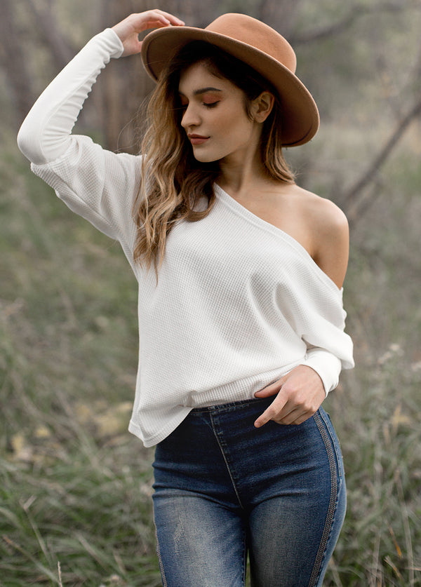 *NEW* Andi Top in White