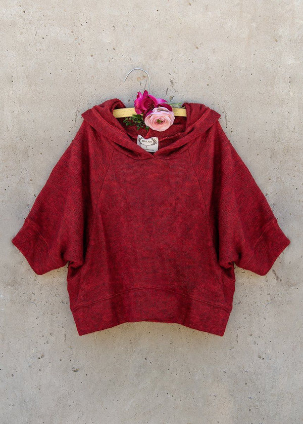 Andra Cropped Sweatshirt in Red