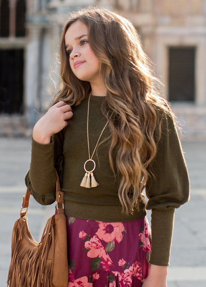 Ashton Top in Dark Olive
