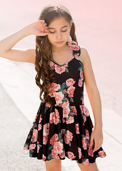 Aurelia Romper in Black Floral