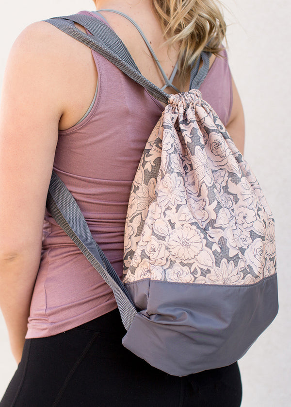 *NEW* Bailey Gym Bag in Charcoal Floral