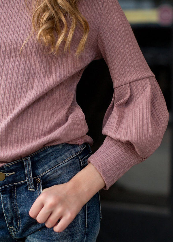 *NEW* Bailey Sweater in Dark Blush