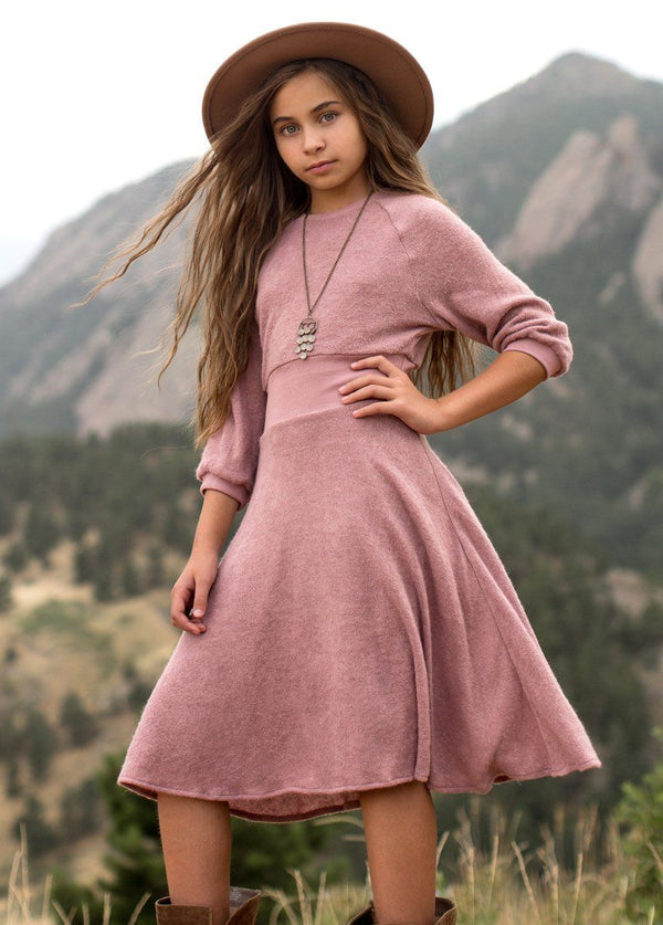 Bethenny Dress in Dusty Orchid