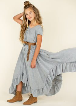 *NEW* Braelyn Dress in Heather Grey
