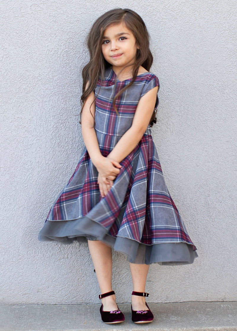 *NEW* Brenna Dress in Multi Plaid