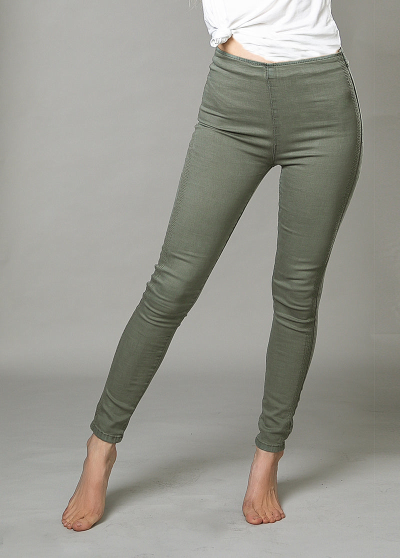 Brytny High-Waisted Denim in Ivy Green