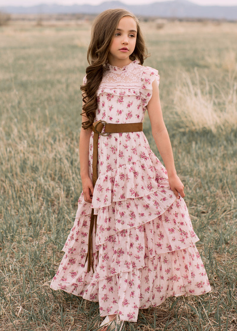 *NEW* Caroline Maxi Dress in Pink Floral