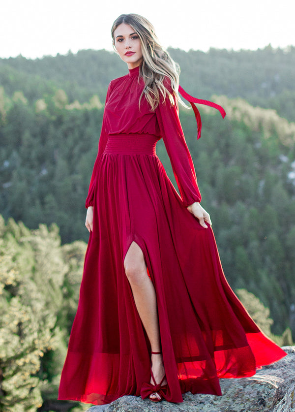 *NEW* Ember Dress in Crimson