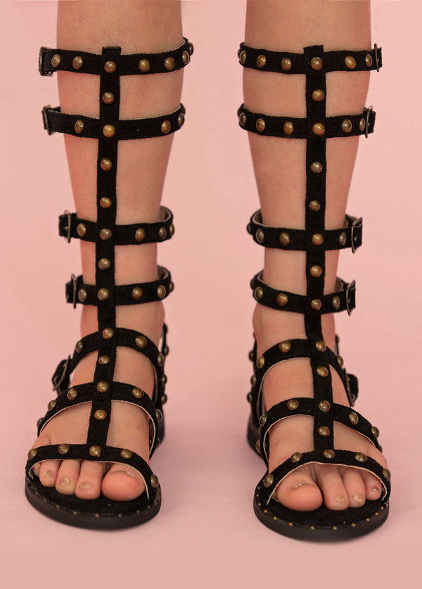 Celyn Studded Gladiator in Black