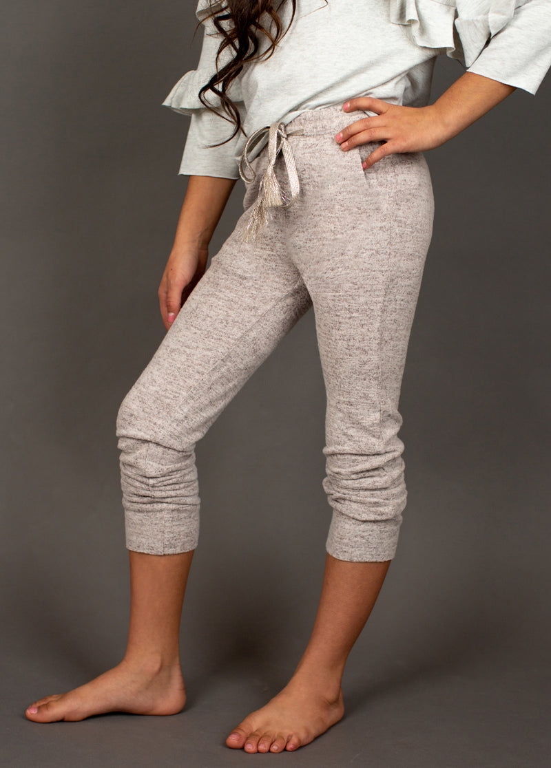 *NEW* Chantal Jogger in Heathered Pink