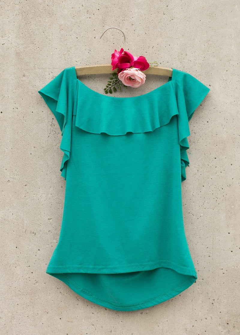 Daisy Tank in Teal
