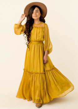 Daphne Maxi Dress in Marigold