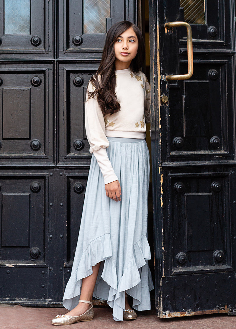 Eden Skirt in Dusty Blue