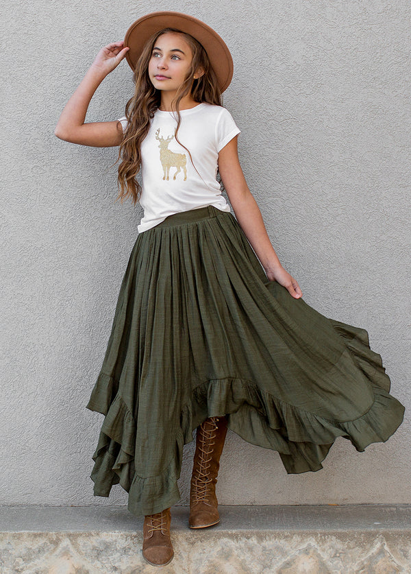 Eden Skirt in Evergreen