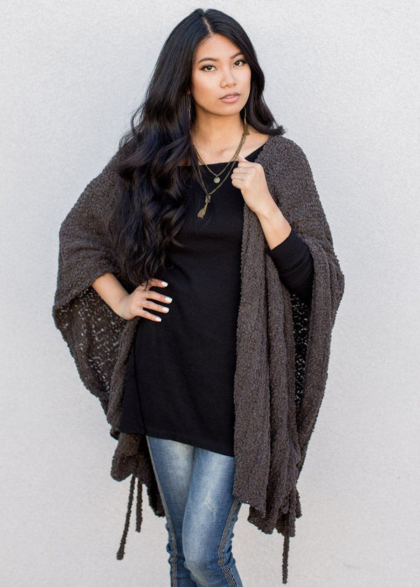 *NEW* Elana Cardigan in Dark Stone