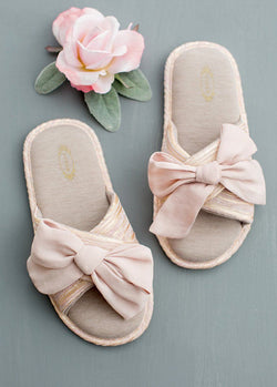 Elene Slippers in Blush