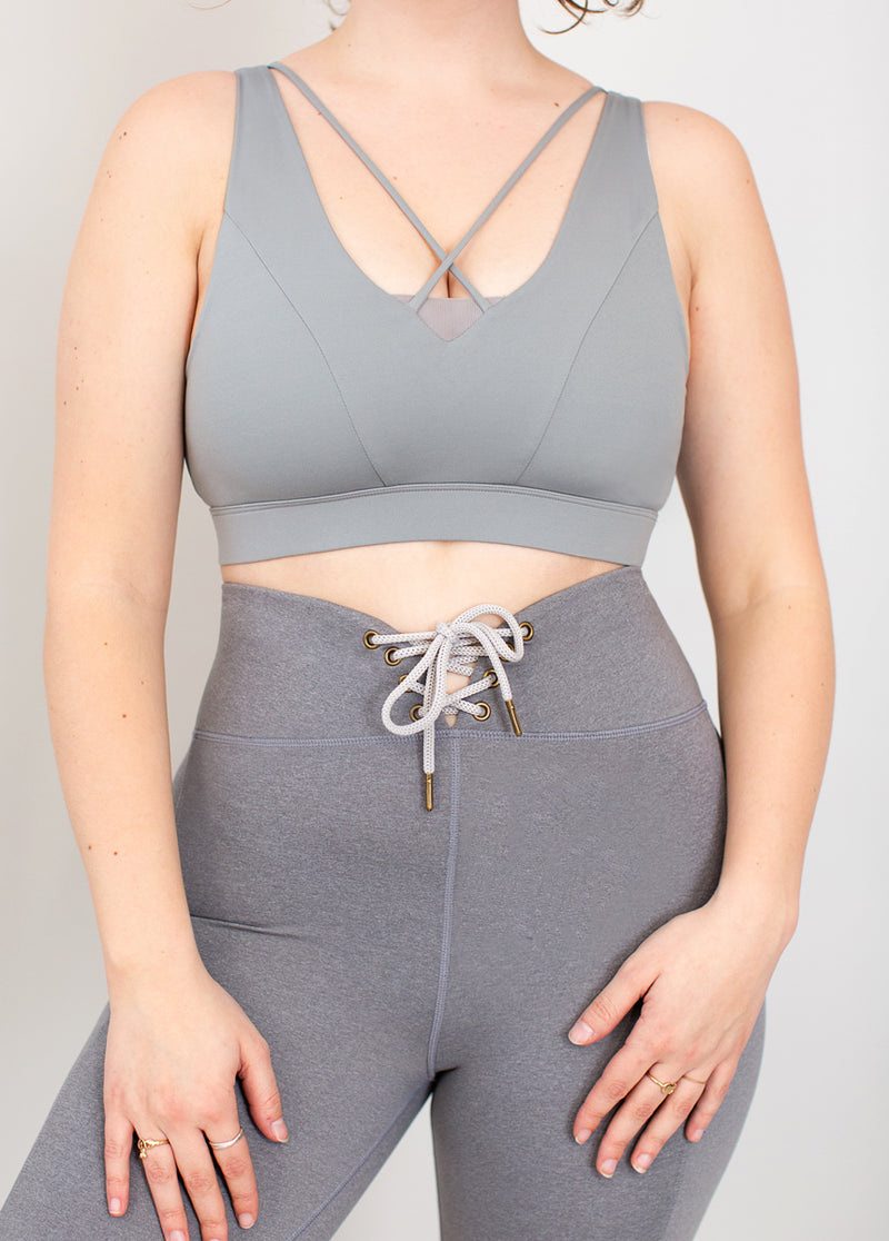 Elix Sports Bra in Stone Gray