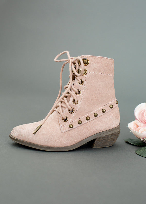 Eliza Ankle Boot in Misty Rose