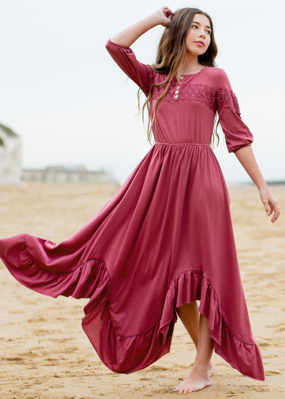 Elvia Dress in Berry