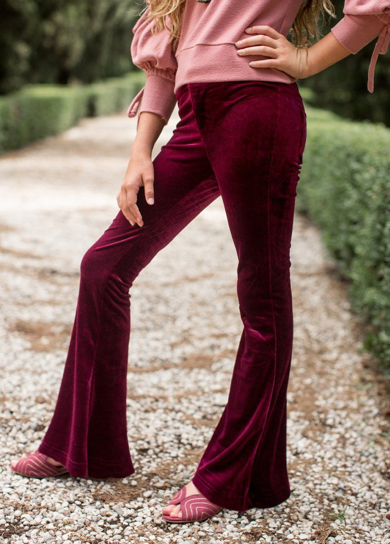 Emerson Pant in Burgundy