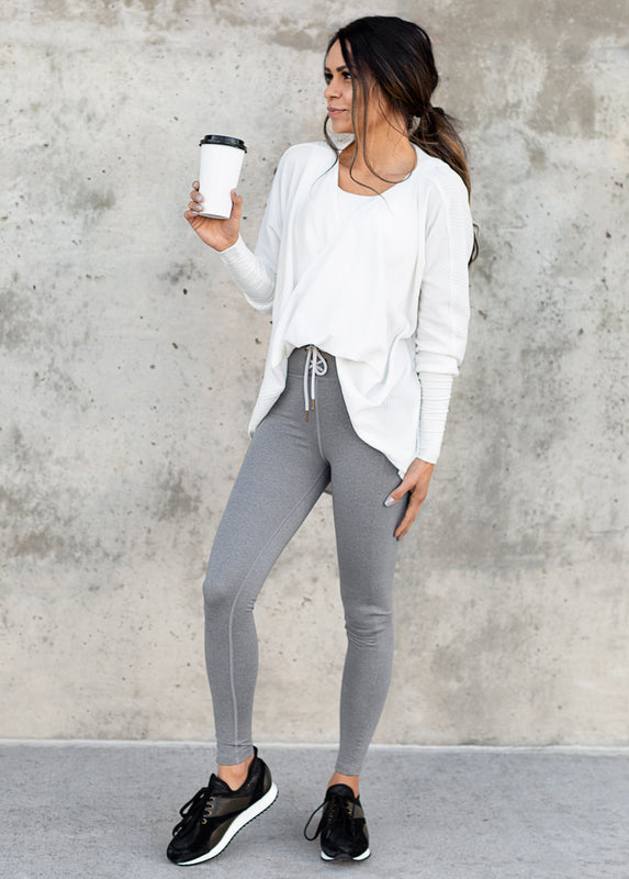 Parker Legging in Heathered Gray