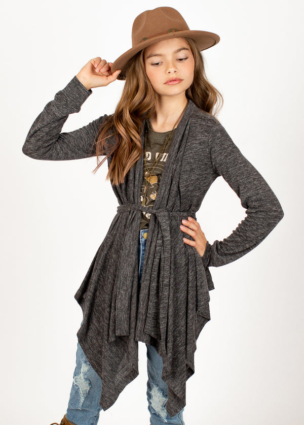 *NEW* Emmalyn Cardigan in Heather Charcoal