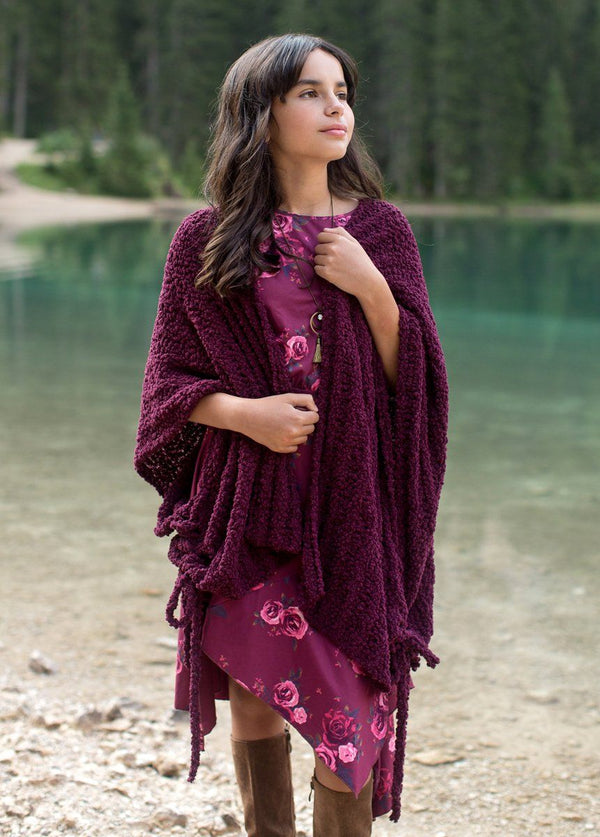 Etta Cardigan in Plum