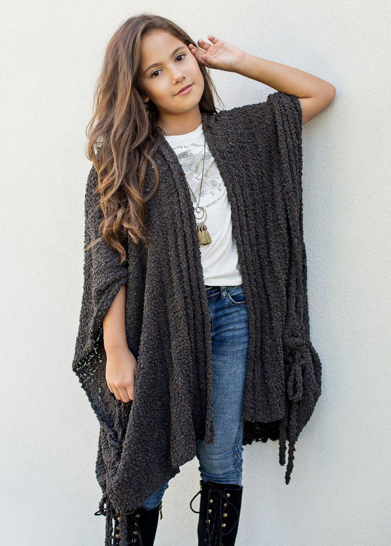 Etta Cardigan in Dark Stone