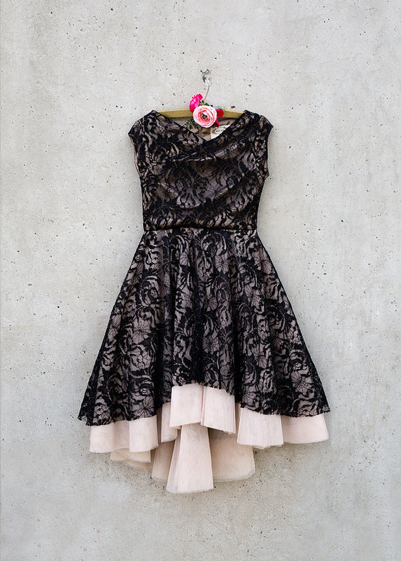 Evalina Dress in Black Lace