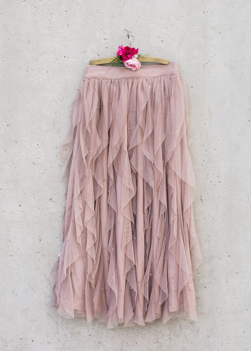 *NEW* Evaline Pearl Skirt in Mauve