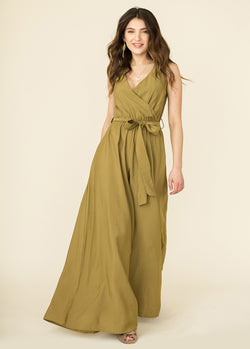 *Evan Jumpsuit in Khaki Olive*